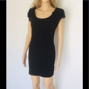 Forever21 Puff-Sleeve Bodycon Dress Cotton/Spandex
